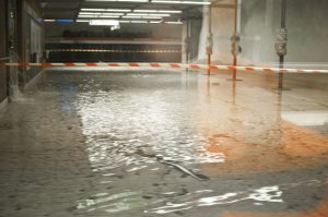 Flood in Helsinki metro station