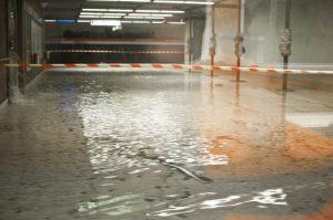 Flood in Helsinki metro station